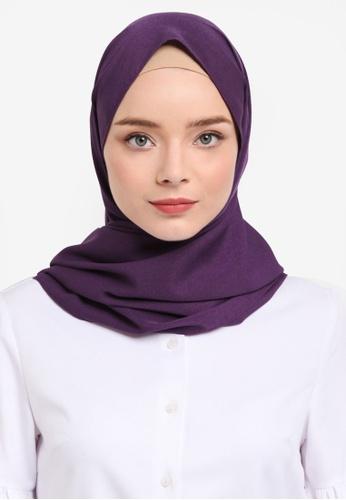 Soonaru purple Potent Purple Crepe Shawl D7440AAB8FF6B7GS_1