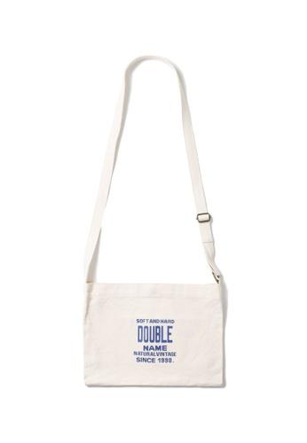 DOUBLE NAME white Logo printed shoulder bag 5B341ACA1A9032GS_1