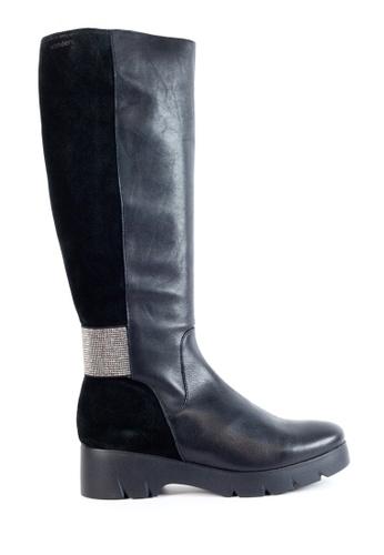 Shu Talk black Extra Comfort & Lightness Platform Boots with Elastic Strap SH397SH0GA2ASG_1