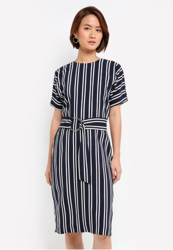 WAREHOUSE multi Stripe O-Ring Dress 52774AAB3138DBGS_1