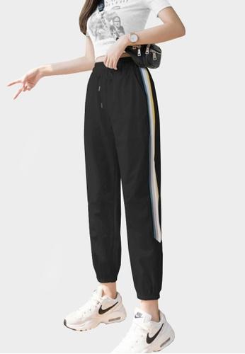 Twenty Eight Shoes black VANSA Ice Silk Sports Casual Pants  VCW-P2160 345E6AA0C1D120GS_1