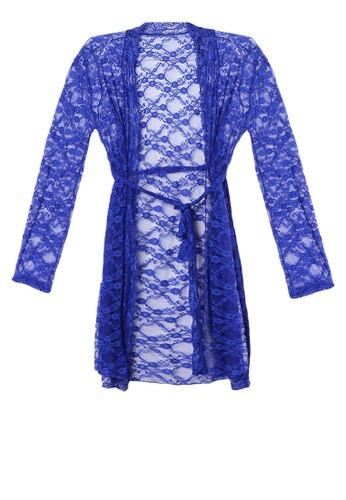 LAVABRA Intimates blue Sweet Lingerie -  Chloe French Full Lace Elegant Kimono LA387US19SNGID_1