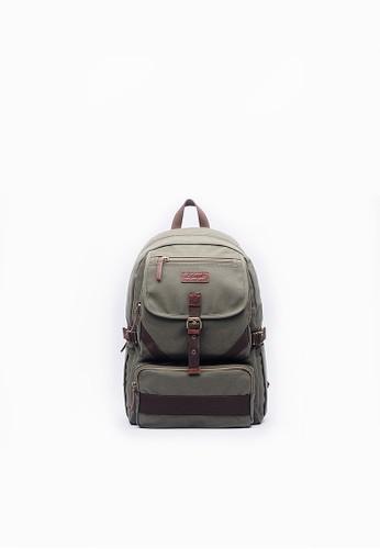 大容量。輕旅行百搭後背包-0esprit 會員6337-軍綠色, 包, 後背包