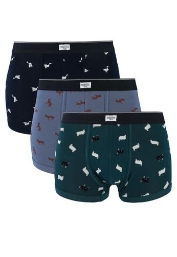 Springfield blue 3-Pack Animal Print Boxers CC273US9F30013GS_1