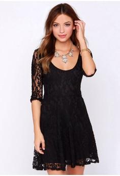 Feel Me Black Lace Dress