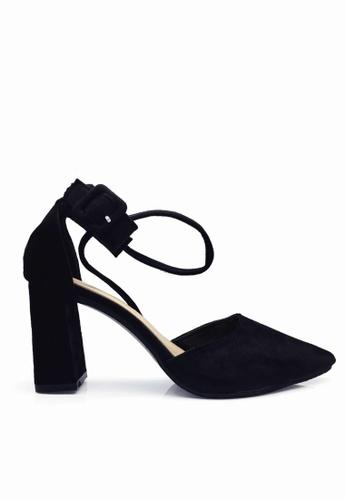 Twenty Eight Shoes 黑色 搭帶尖頭高跟鞋 VLA01 TW446SH2VYT5HK_1