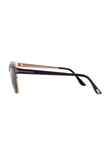 5171c6bd3f53 Buy Tom Ford TOM FORD Elena Browline Black Polarized Sunglasses TF437  Online