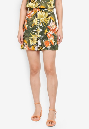 WAREHOUSE green Toucan Print Shorts B5E03AA0B79F90GS_1
