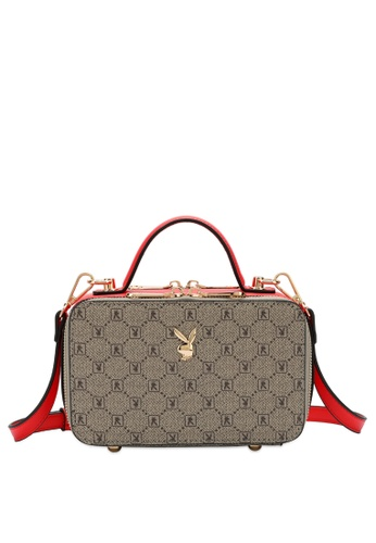 PLAYBOY BUNNY grey and red Playboy Bunny Monogram Sling Bag 4C498ACC32BCFEGS_1