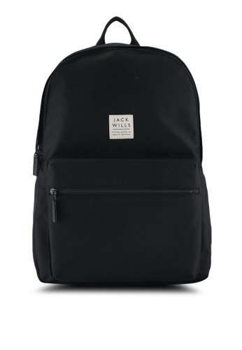 Jack Wills black Thurso Backpack AC9FAAC13D383AGS_1