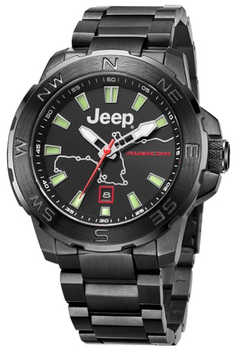 Jeep Wrangler Series Automatic Men's Watches JPW63203 Rubicon Multifunction Watch Black Green stainless steel