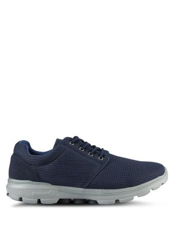 UniqTee blue Lightweight Lace Up Sport Shoes UN097SH0S21CMY_1