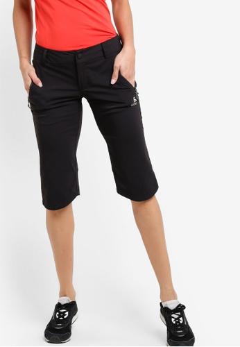 Odlo black Spoor 3/4 Pants OD608AA22KAVMY_1