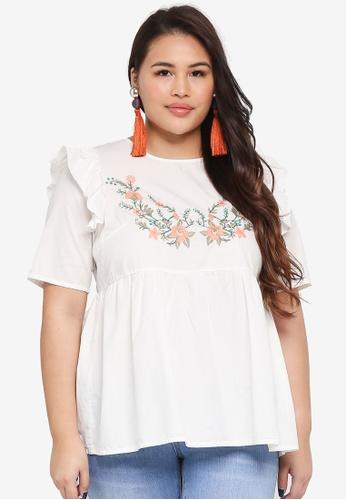Junarose white Plus Size Cheryl Blouse 68C14AAA9E698CGS_1