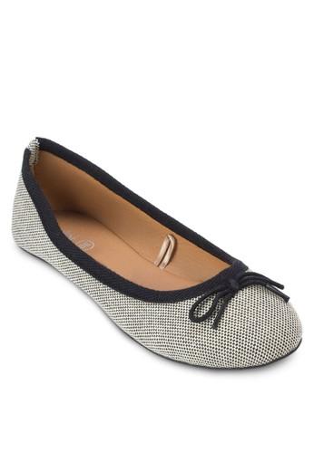 暗尖沙咀 esprit紋蝴蝶結娃娃鞋, 女鞋, 鞋