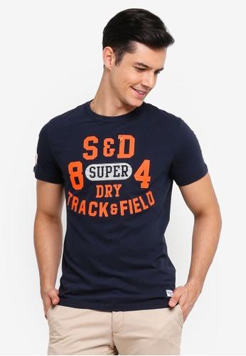Superdry 海軍藍色 圓領印花T恤 671D1AA1F2197EGS_1