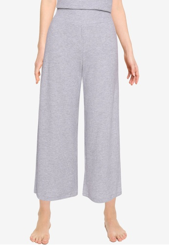 Abercrombie & Fitch grey Waffle Wide Leg Pants A83FEAA6C15CFCGS_1