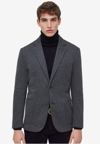 OVS grey Blazer With Lapels 5AD63AA9F49202GS_1