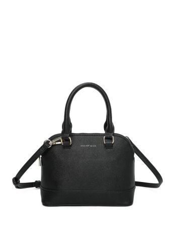 Milliot & Co. black Andrea Top Handle Bag 2661CAC1E8DD96GS_1