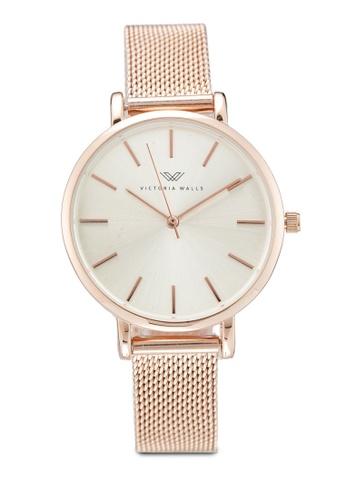 Victoria Walls Watches gold Designer Watch-Elegant Milanese Mesh Strap CCEBDAC946135BGS_1