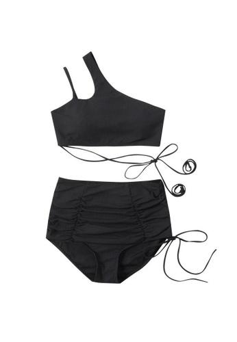 ZITIQUE black Women's Sexy Deep V Backless One-piece Swimsuit - Black 18450US32113E9GS_1