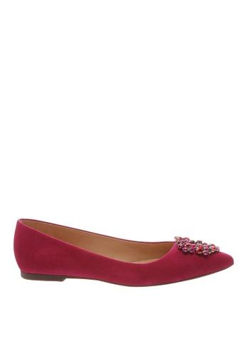 SCHUTZ pink True Pink Nubuck Ballerina Shoes - CAROLINA [TRUE PINK] 4039BSHB442734GS_1