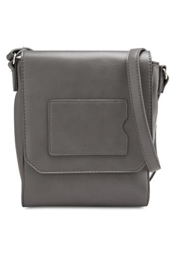 Something Borrowed grey Cardholder Flapped Sling Bag 4D645AC8E90BD3GS_1