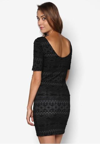 esprit分店Only One New Vigga 民族風提花貼身連身裙, 服飾, 洋裝