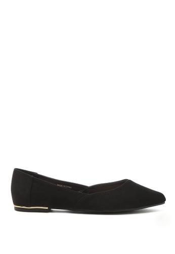 London Rag 黑色 尖头黑色绒面革芭蕾舞鞋 4FC0BSH0FE0702GS_1