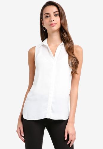 Dorothy Perkins white Ivory Sleeveless Shirt 1B273AACB7F42BGS_1