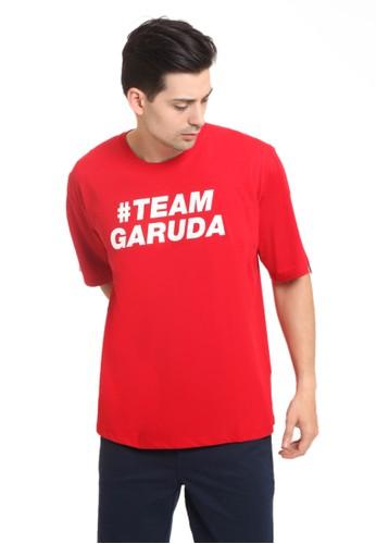 Damn I Love Indonesia red Tee Male Garuda Sidline Red Male D78F0AA74845DEGS_1