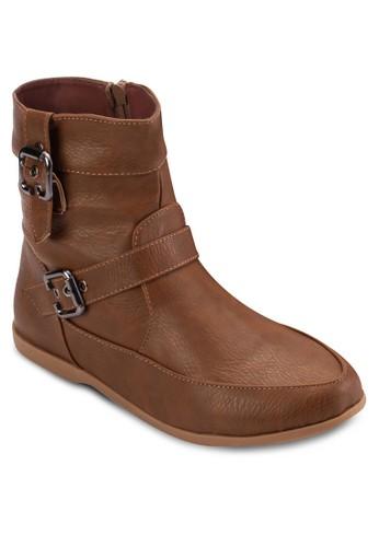 雙扣環側拉鍊esprit outlet 家樂福短靴, 女鞋, 靴子