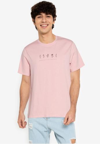 ZALORA BASICS pink Flower T-Shirt E27AFAABA298B7GS_1