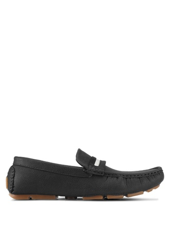 UniqTee blue Slip On Loafers With Strap 57320SHC9E624BGS_1