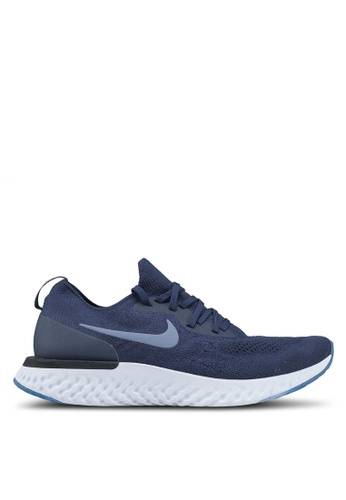 Nike navy Nike Epic React Flyknit Shoes 7F20ESHB5631D1GS_1