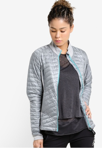 Odlo grey and silver Midlayer Full Zip Helium Cocoon Jacket OD608AA50JZTMY_1