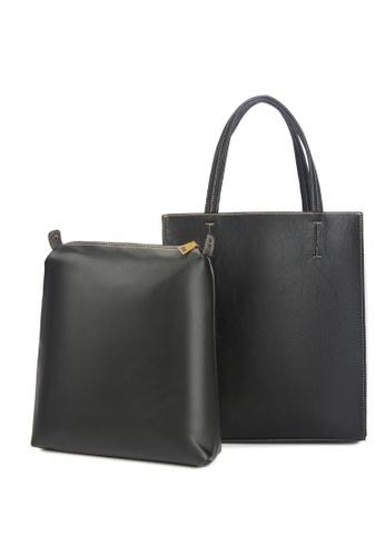 Lara black 2 Piece Set - Plain Composite Bag - Black 5009CAC7A613ABGS_1