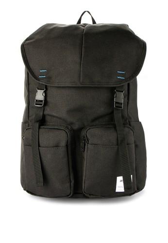 Anello black Polycanvas Flap Rucksack AN804AC0WBVWID_1