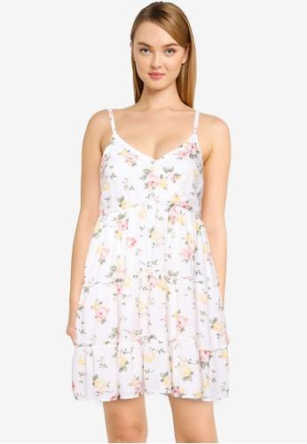 Hollister white Bare Babydoll Wrap Dress E6C3EAA9B71292GS_1