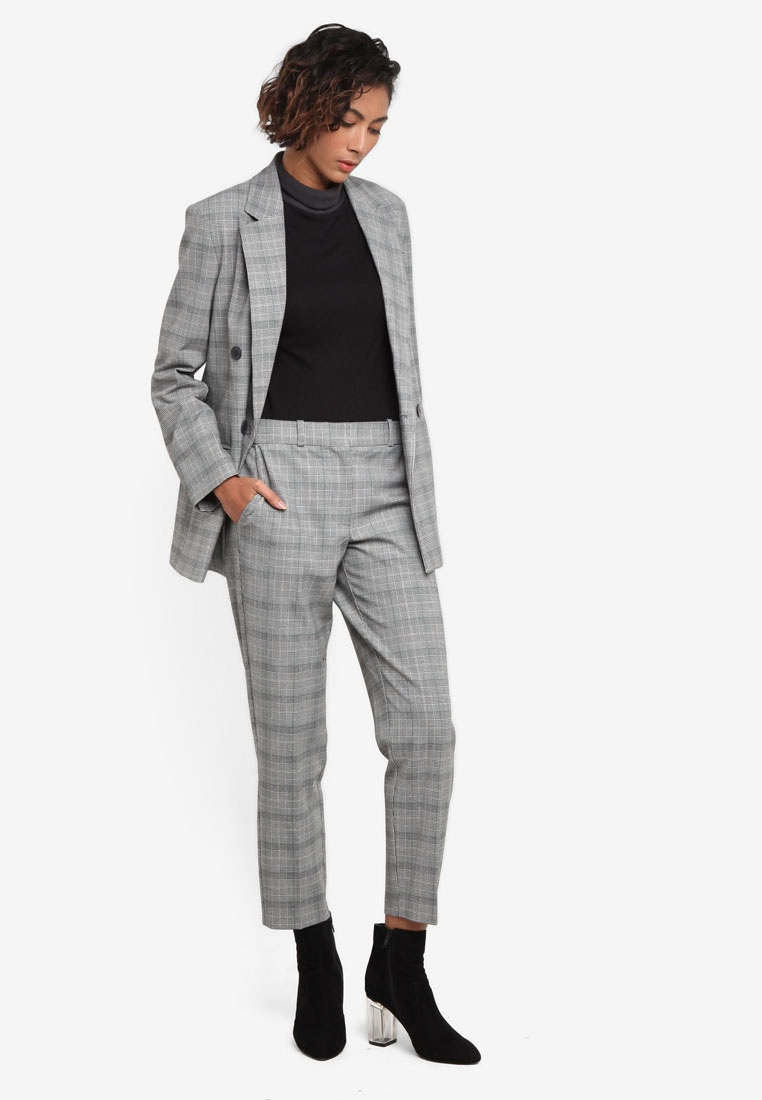 leg tapered grey trousers topshop checkered suit qxsewha4