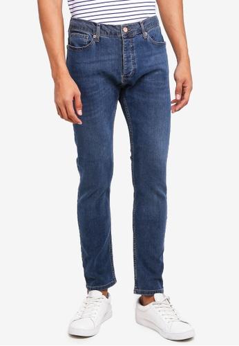 Topman blue Mid Wash Stretch Skinny Jeans 9CF87AAE2C1364GS_1