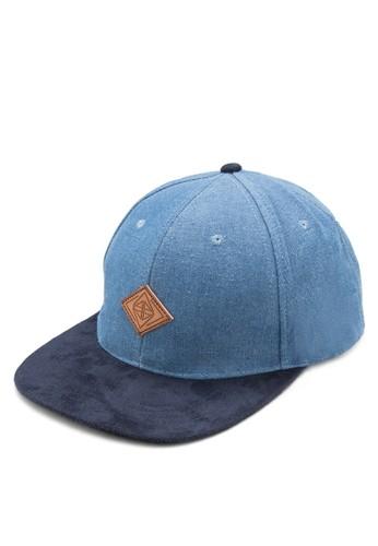 雙色丹寧平沿帽, 飾品配件, 帽esprit分店飾