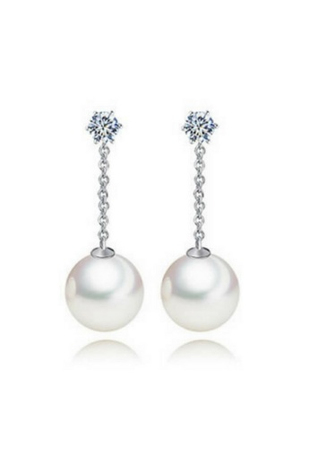 Vivere Rosse silver Lucilia Pearl Droplet Earrings VI014AC21ZDEMY_1