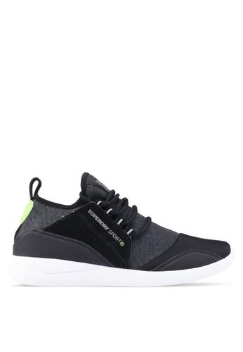 Superdry black Sd Super Lite Runner Sneakers 94A6ASH9BF561EGS_1