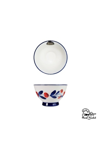 Table Matters multi Holiday Berry - Hand Painted 5 inch Salad Bowl E7FE5HLF20736FGS_1