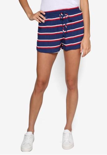 Dixie 彈性條紋休閒短褲,esprit服飾 服飾, 服飾