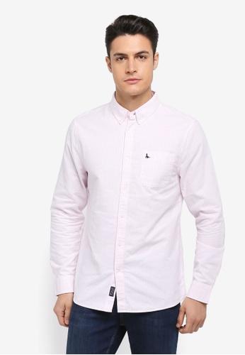 Jack Wills pink Wadsworth Oxford Stripe Shirt A8655AAAFDDD5BGS_1