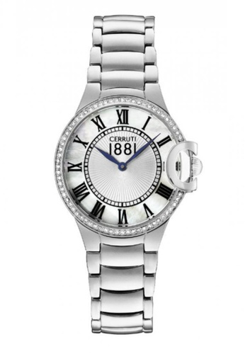 b7be3a3ccb CERRUTI 1881 silver Ghirla All Stainless Steel Ladies Watch CE514AC58QNTMY_1