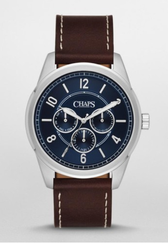 CHAPS Bransen Mulesprit outlet 高雄ti三眼計時腕錶 CHP5034, 錶類, 紳士錶
