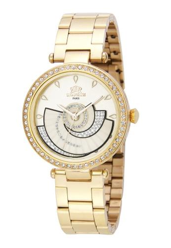 Roscani 金色 Roscani Jeanne E35 (360度旋轉 + 陽光錶面) 金 不銹鋼錶帶 女表 C77D0AC9D5B311GS_1